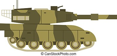 Tank isolated vector illustration - Self propelled artillery...