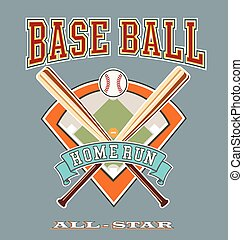 baseball allstar homerun - baseball illustration vector for...