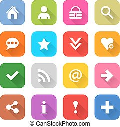 Web icon with blasic sign - 16 basic icon set 05 white sign...