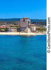 Phospfori tower in Ouranopolis, Mount Athos - Phospfori...