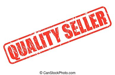 QUALITY SELLER red stamp text