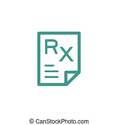 Medical record icon sign thin line icon isolated on beige...