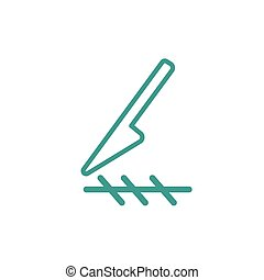 Scalpel cut icon - Scalpel cut thin line icon isolated on...
