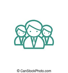 Medical team icon - Medical team thin line icon isolated on...