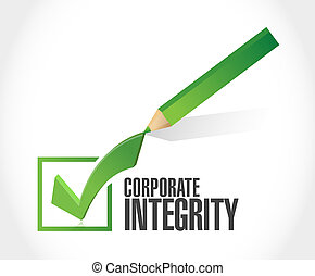 Corporate integrity isolated check mark sign concept...