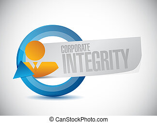 Corporate integrity isolated people cycle sign concept...
