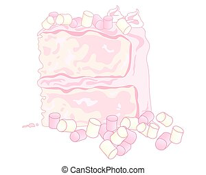 marshmallow cake - a vector illustration in eps 10 format of...