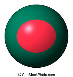 Bangladesh flag sphere isolated on white illustration