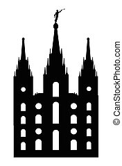 Mormon Style Temple - Mormon style temple drawing is...