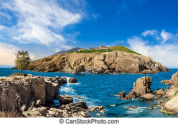 composite island with hills and castle - fairytale composite...