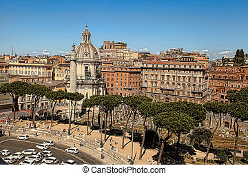 View from the balcony of the national monument a Vittorio...