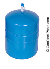 Water Storage Tank isolated on the white background.