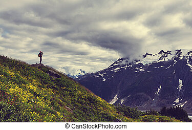 Hike in Alaska - Hike in Alaska at summertime