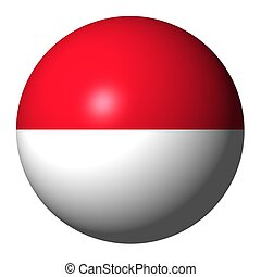 Indonesia flag sphere isolated on white illustration