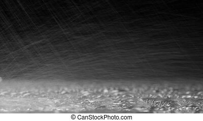 Raindrops of White Water on Glass. - Raindrops of white...