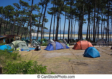 Camping on Cies Island - Camping on the Cies Islands Natural...