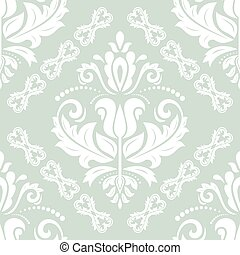 Seamless Damask Vector Background - Damask vector classic...