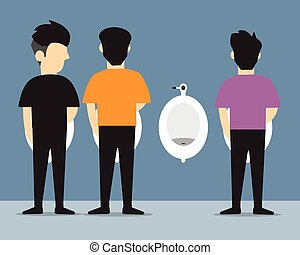 man urinating vector flat design. - man urinating vector...