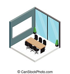 Isometric meeting room