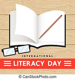 LITERACY DAY - literacy day , vector design for education.