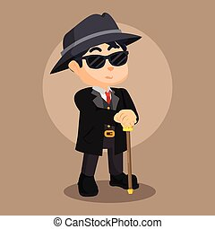 mafia guy illustration design