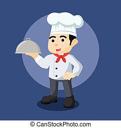 chef holding food delivery