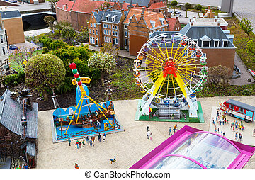 Madurodam, miniature park and tourist attraction in Hague,...