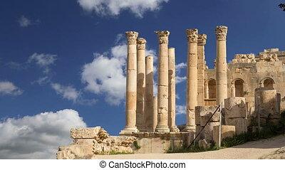 Jordanian city of Jerash - Temple of Zeus, Jordanian city of...