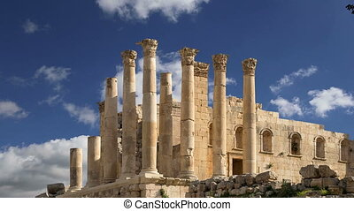 Jordanian city of Jerash, Jordan - Temple of Zeus, Jordanian...