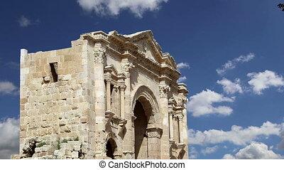 Arch of Hadrian in Gerasa.Jordan - Arch of Hadrian in Gerasa...
