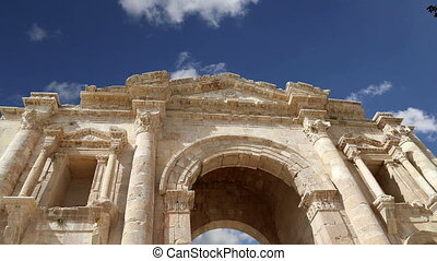 Arch of Hadrian in Gerasa.Jordan - Arch of Hadrian in Gerasa...
