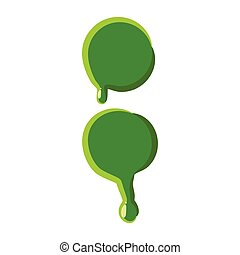 Punctuation mark colon made of green slime - Punctuation...