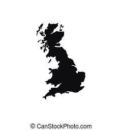 Map of Great Britain icon, simple style
