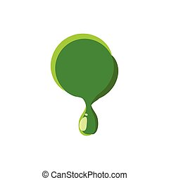 Punctuation mark point made of green slime - Punctuation...