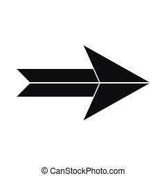 Big arrow icon, simple style - Big arrow icon in simple...