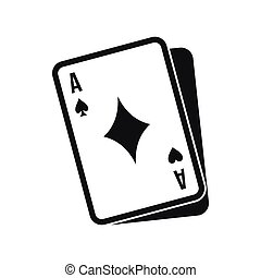 Playing card icon, simple style - Playing card icon in...