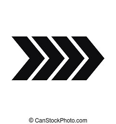 Striped arrow icon, simple style - Striped arrow icon in...