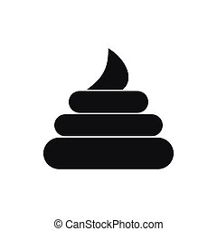 Turd icon, simple style - Turd icon in simple style isolated...