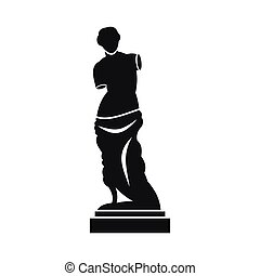 Ancient statue icon, simple style - Ancient statue icon in...
