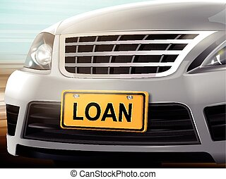 Loan words on license plate