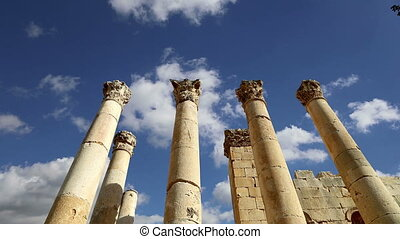 Jerash (Gerasa of Antiquity),Jordan - Roman Columns in the...