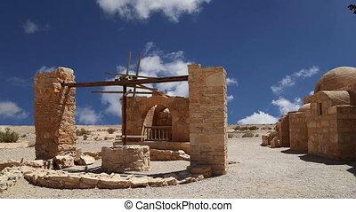 Quseir Amra desert castle.Jordan - Quseir (Qasr) Amra desert...