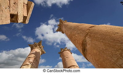 Jerash Gerasa of Antiquity,Jordan - Roman Columns in the...
