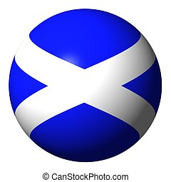 Scotland flag sphere isolated on white illustration