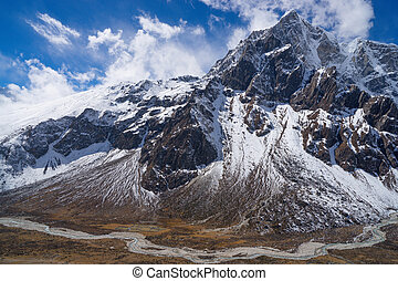 Himakaya mountains Pheriche valley and Taboche peak....