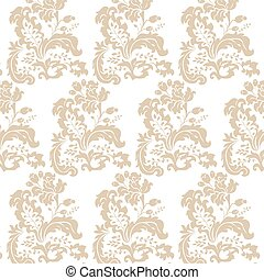 Vintage Damask Pattern flower ornament - Vector Vintage...