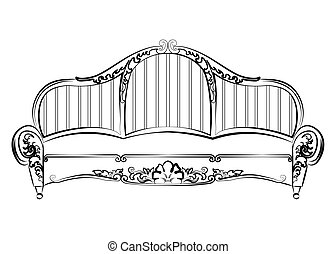 Royal Elegant Sofa with classic ornaments