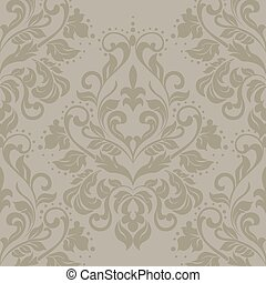Vector floral damask ornament pattern Elegant luxury texture...