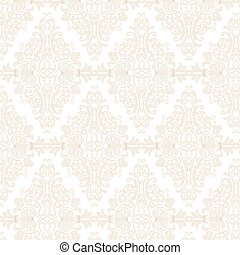 Damask Pattern ornament Imperial style - Vector Damask...