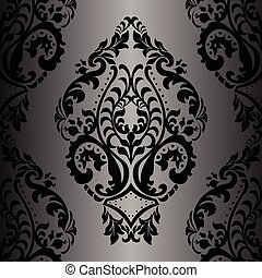 Vector Damask Pattern ornament Imperial style Ornate floral...